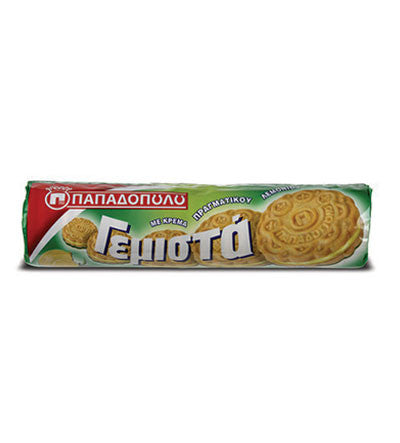 Biscuits Filled with Lemon Flavor, 200g - Parthenon Foods