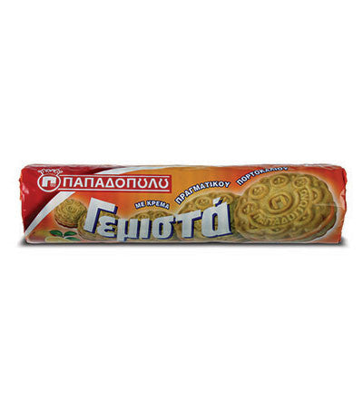 Biscuits Filled with Orange Flavor, 200g - Parthenon Foods