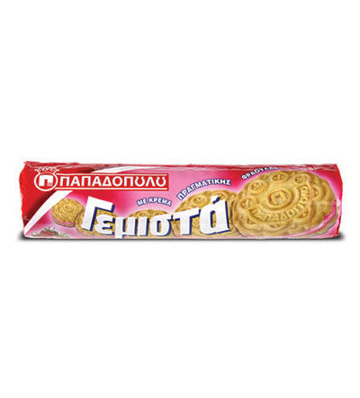 Biscuits Filled with Strawberry Flavor 200g - Parthenon Foods