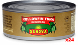 Genova Tuna in Olive Oil, CASE, 24x142g (5oz) - Parthenon Foods