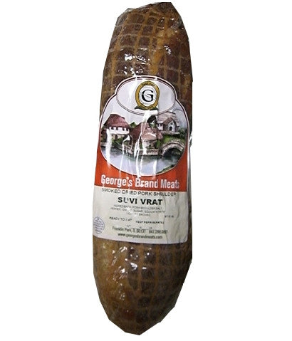 Smoked Dried Pork Shoulder, Suvi Vrat, (George's) approx. 1.0-1.2 lb - Parthenon Foods