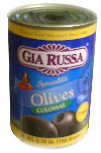 Pitted Black Colossal Olives, 5.75oz Can - Parthenon Foods