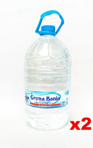 Gorna Bania Bulgarian Mineral Water,  2 PACK - 2 x 8 L plastic bottle - Parthenon Foods