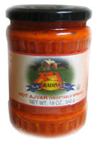 Ajvar Hot Vegetable Spread (gradina) 19.3oz - Parthenon Foods