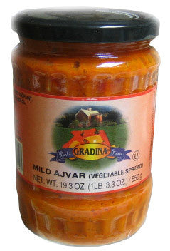 Ajvar Mild Vegetable Spread (gradina) 19.3oz - Parthenon Foods