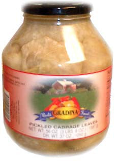 Pickled Cabbage Leaves (Gradina) 56oz - Parthenon Foods