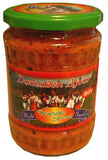 Domasen Ajvar, HOT Vegetable Spread, 19 oz - Parthenon Foods