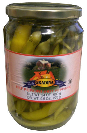 Fefferoni, Hot Peppers (Gradina) 19 oz - Parthenon Foods