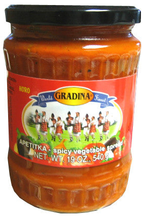 Apetitka Horo Spicy Vegetable Spread (Gradina) 19 oz (540g) - Parthenon Foods