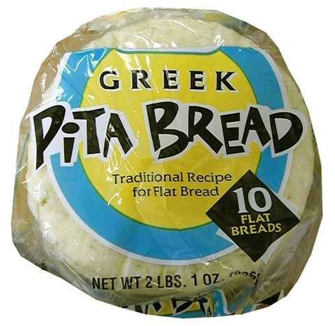 Pita Bread ,10 count (Grecian Delight) - Parthenon Foods  - 1