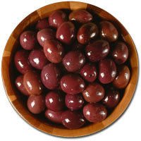 Deli Fresh Greek Black Olives, 8oz Dr.Wt. - Parthenon Foods