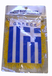 Greek Flag with String and Suction Cap, 4x6 in. - Parthenon Foods