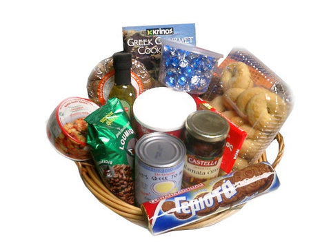 Greek Town Greek Gift Basket 14pc - Parthenon Foods
