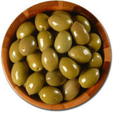 Deli Fresh Large Green Cracked Olives, 16oz Dr.Wt. - Parthenon Foods
