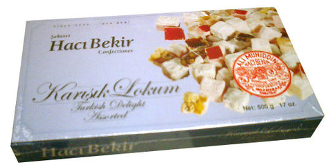 Turkish Delight, Assorted (Haci Bekir) 500g (17oz) - Parthenon Foods