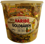 Haribo Mini Goldbaren, 100x minibeutel, 980g Tub - Parthenon Foods