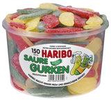 Haribo Saure Gurken, Sour Pickles, Tub - Parthenon Foods
