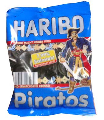 Haribo Piratos, Salmiak, 200g - Parthenon Foods
