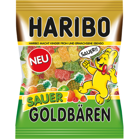 Haribo SAUER Gold Bears, 200g - Parthenon Foods