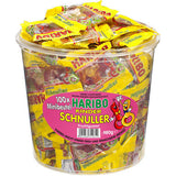Haribo Mini Kinder Schnuller (Pacifier) 100 mini bags in Tub, 1000g - Parthenon Foods