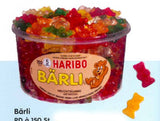Haribo Barli Bears, Tub - Parthenon Foods