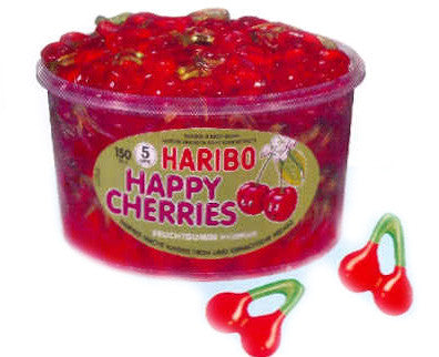 Haribo Happy Cherries, Tub - Parthenon Foods