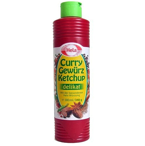 Curry Gewurz Ketchup Delikat (Hela) 300 ml - Parthenon Foods