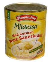 Mild German Wine Sauerkraut (Hengst.) 28.6oz (810g) TIN - Parthenon Foods