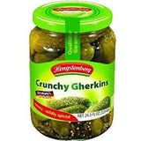 Crunchy Gherkins, German Pickles (Hengst.) 24.3oz - Parthenon Foods
