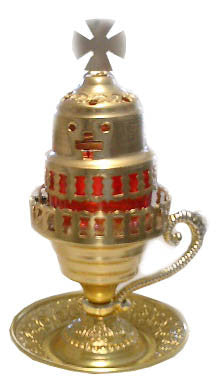 Votive Lamp (candili) Oil Burning, 8.5in High, Aluminum - Parthenon Foods