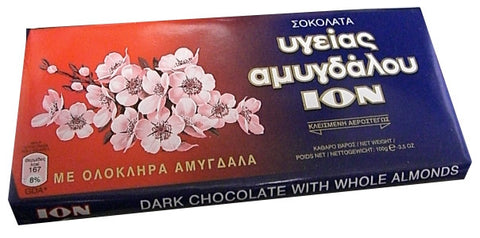 Dark Chocolate with Almonds (ion) CASE (10 x 100g) - Parthenon Foods