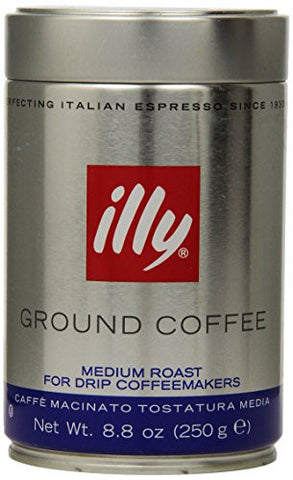 Espresso Coffee Med.Roast - Med.Grind (illy) 8.8oz(250g)-blue - Parthenon Foods