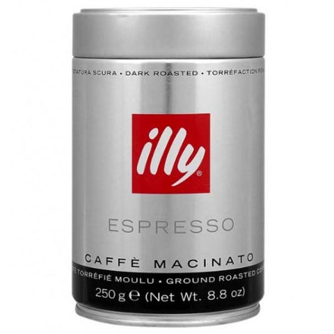Espresso Coffee Dark.Roast - Fine Grind (illy) 8.8oz(250g)-black - Parthenon Foods