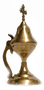 Censer, Incense Burner, Medium, Brass with handle and hinged lid - Parthenon Foods