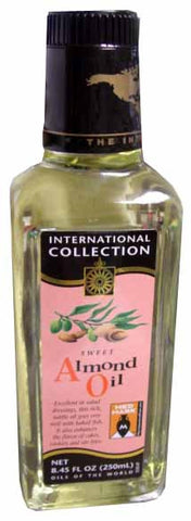 Sweet Almond Oil (Int.Col.) 8.45 fl oz (250ml) - Parthenon Foods