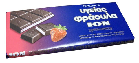 Semisweet Chocolate with Strawberry (ION) 100g - Parthenon Foods