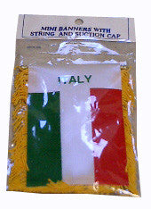 Italian Flag with String and Suction Cap, 4x6 in. - Parthenon Foods