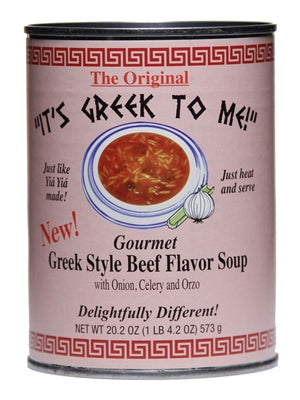 Greek Style Beef Flavor Soup (ItsGreekToMe) 20.2 oz - Parthenon Foods