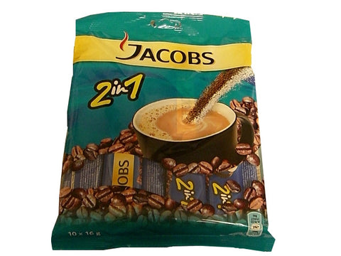 Jacobs 2 in 1 Instant Coffee (10 x 16g) Bag - Parthenon Foods