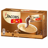 Jacobs 3 in 1 Instant Coffee Packs, CASE (10x18g) German - Parthenon Foods