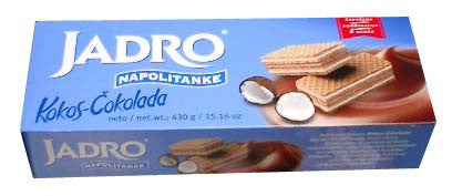 Jadro Coconut-Chocolate Wafers, 430g - Parthenon Foods
