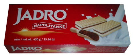 Jadro Filled Wafers, 430g - Parthenon Foods