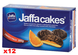 Jaffa Cakes Biscuits, Orange, CASE, 12x300g - Parthenon Foods