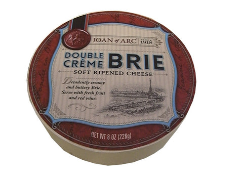 Double Creme Brie Round Soft-Ripened Cheese (Joan of Arc) 8 oz - Parthenon Foods