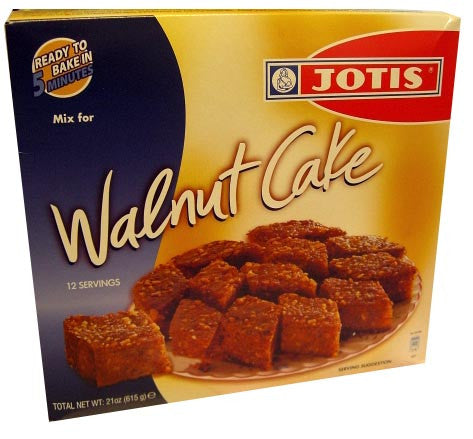 Walnut Cake Mix (Jotis) 12 servings, 615g (21 oz) - Parthenon Foods