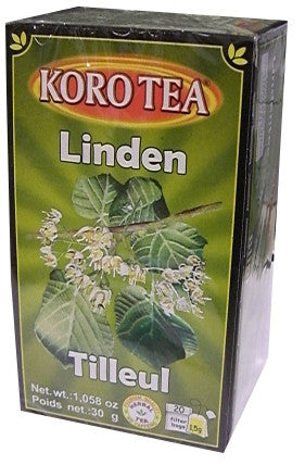 Linden Tea Bags, 20 filter bags (KORO) 30g - Parthenon Foods