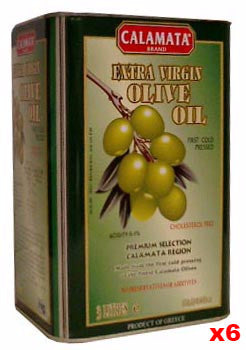 Extra Virgin Olive Oil - First Cold Pressed, Green Can, CASE (6 x 3L) - Parthenon Foods