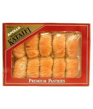 Kataifi - Shredded Fillo with Walnuts and Honey, 12pieces (24oz) - Parthenon Foods
