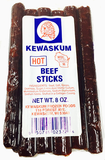 Beef Sticks, Hot (Kewaskum) 8 oz - Parthenon Foods