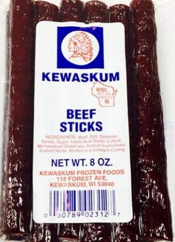 Beef Sticks, Mild (Kewaskum) 8 oz - Parthenon Foods